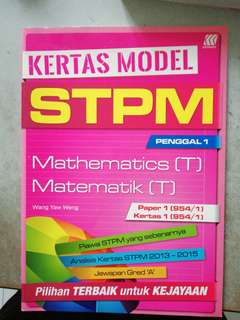 STPM Maths T Sem 1 book like new