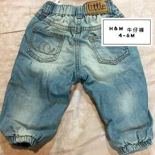 🚚 H&M 4-6m寶寶牛仔褲