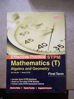 STPM Sem 1 Maths t book. Like new
