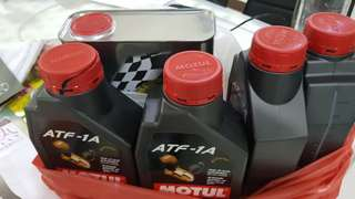Motul 300V power 15w-50 engine oil 1x2L and 4×1L ATF-1A transmission oil($161)