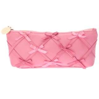 Maison de FLEUR Dark Pink Ribbon Ribbon Pen Case
