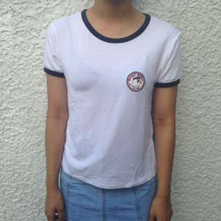 PULL&BEAR PATCH RINGER TEE