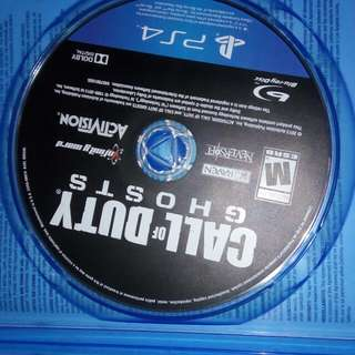 Call of duty ghost PS 4