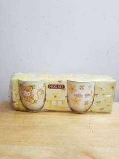 hello kitty made in Japan 陶瓷杯 2pcs/set