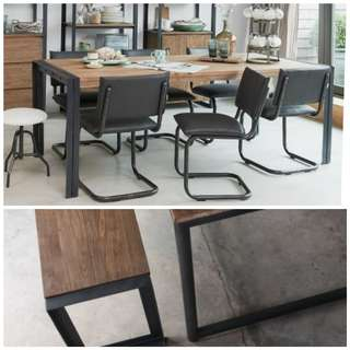 Fendy Dining Table and Bench