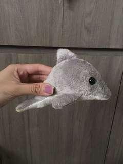 🚚 RWS Resorts World Sentosa Grey Plush Dolphin