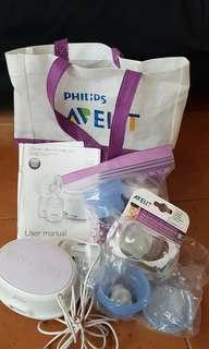 Philips Avent Auto breastpump set.