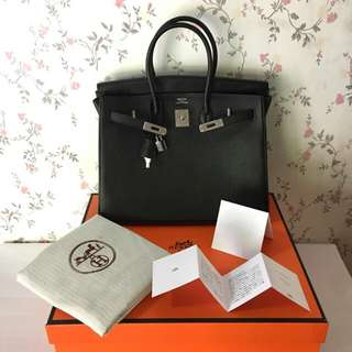 HERMES BLACK TOGO 35CM SHW COMPLETE WITH BOX