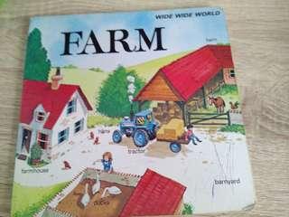 A hardboard farm book(Things in a farm)