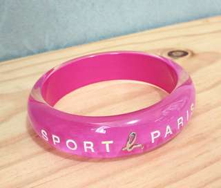 Agnes b Sport b Pink Bracelet