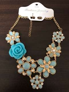 Vintage Victorian Gothic Rose Flowers Flora Statement Necklaces