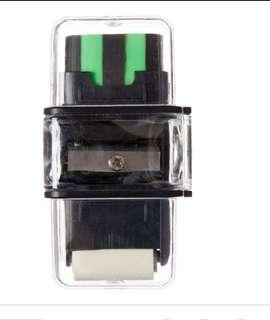 Smiggle black 3in1 sharpener eraser and roller rm10 NEW