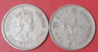 1972年英女皇$1硬幣