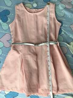 Moose Girl Peach Dress for Girls