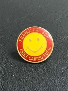 Kranji Primary School Most Caring Collar Pin Badge