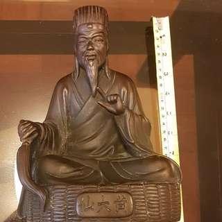 古銅,黄大仙銅像。10寸x7寸,見圖。