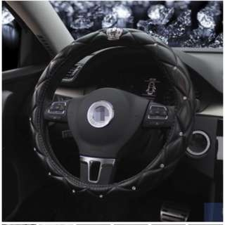 black diamond steering wheel with crown and diamond