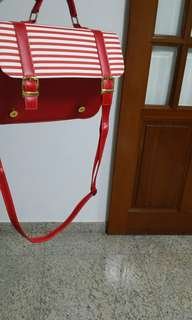 red striped sling bag (price can be negotiated)