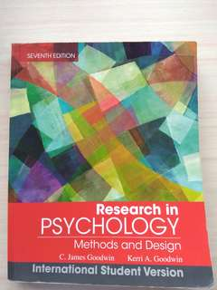 PL2131/2132 Research in Psychology Methods and Design