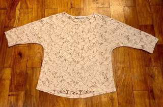 Debenham's Red Herring Lace Blouse (Size 10)
