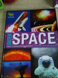 Hardcover Discovery science book about outer space