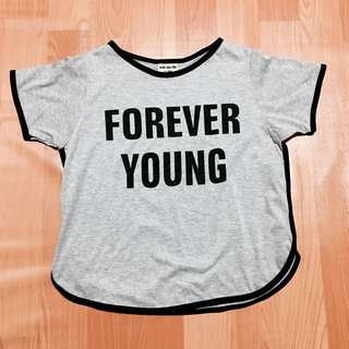Forever Young Grey Tee