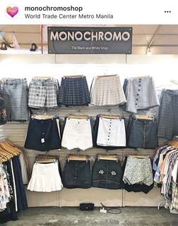 MONOCHROMO KOREAN SKIRT