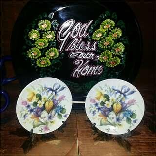 Asian Floral Decorative Plate