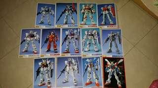 Gundam posters (13 pcs)