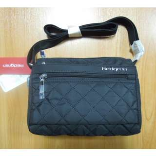 AUTHENTIC Hedgren women bag shoulder sling crossbody bag quilted black