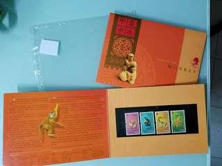 歲次甲申  香港郵票 猴年  老香港懷舊物品