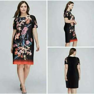 3D PRINTED FLORAL DRESS  Size: FREESIZE; Fits up to XXL