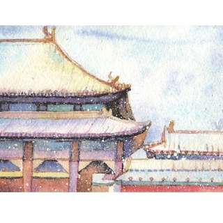 POSTCARD OS011 Chinese Temple 2