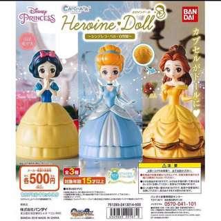 🚚 夢幻童話💍迪士尼公主扭蛋-灰姑娘*7、白雪公主*5