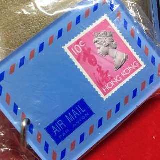 香港97 英女皇郵票匙扣