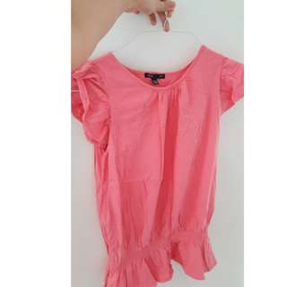 GAP kids pink stretchy blouse