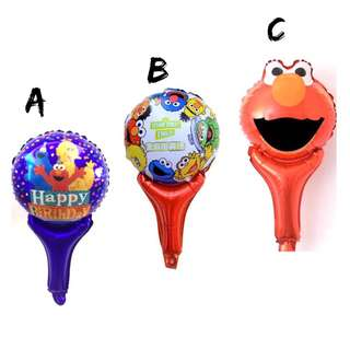 🌈 Sesame Street Party Supplies - Handheld balloons / party gifts / goodie bag gifts