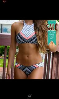 TWO PIECE PADDED Halter Swimsuit
