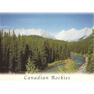 POSTCARD OS015 Canadian Rockies