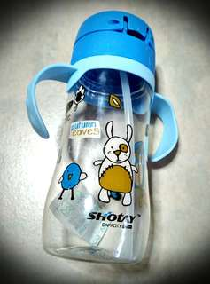 Learning Straw Bottle with Handles