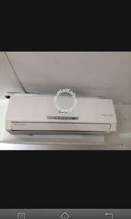 Aircond 1hp full set complete