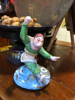 Vintage monkey God porcelain figurine