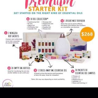 Young Living Premium starter kit with dessert mist