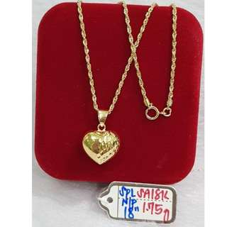 18K SPECIAL SAUDI GOLD NECKLACE (CHAIN & PENDANT) >.>>.>>.>