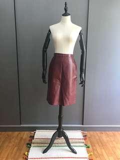 ZARA Faux Leather A-Line Skirt
