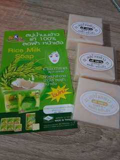 K Brothers Rice Milk Soap Sabun Beras Susu