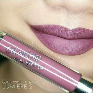 """🆓POSLAJU colourpop ultra matte lip """"lumiere 2"""""""