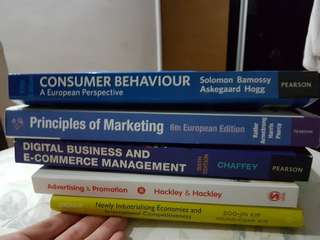 Consumer behaviour, Principles of marketing, Digital Business and E-commerce management, Advertising and promotion, Newly industrialising economies and international competitiveness