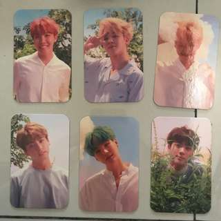 BTS UNOFFICIAL LOVE YOURSELF O VERSION PHOTOCARD