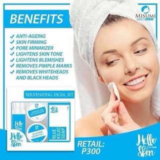 Hello skin rejuvenating blue set